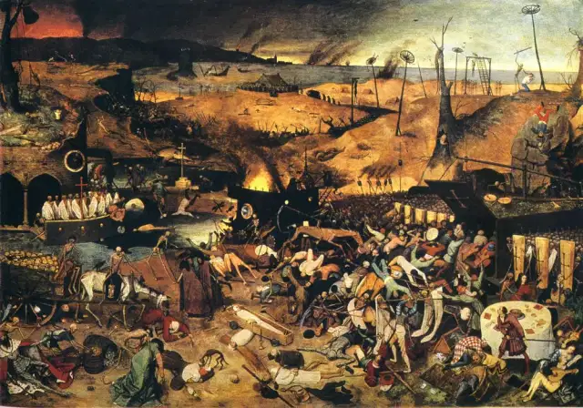 The Triumph of Death by artist Pieter Bruegel the Elder, circa 1562.